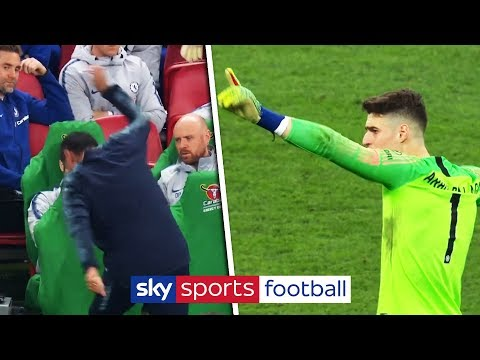 Kepa refuses to be substituted in Carabao Cup Final!   Full incident + John Terry's reaction!