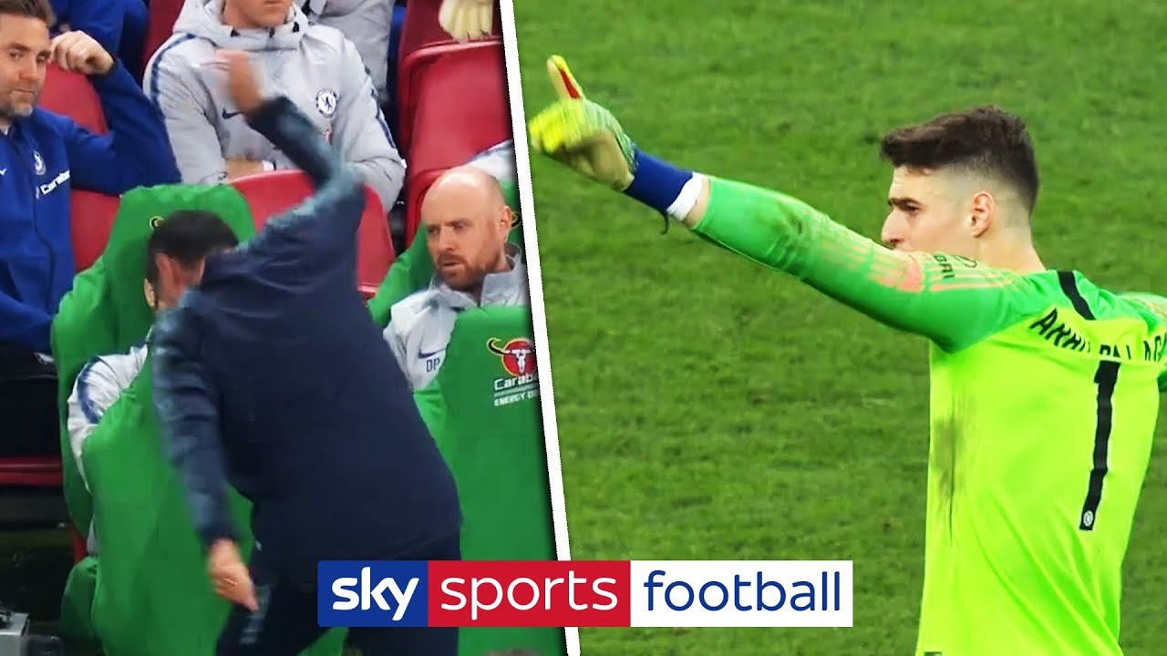 Kepa refuses to be substituted in Carabao Cup Final! | Full incident + John Terry's reaction!