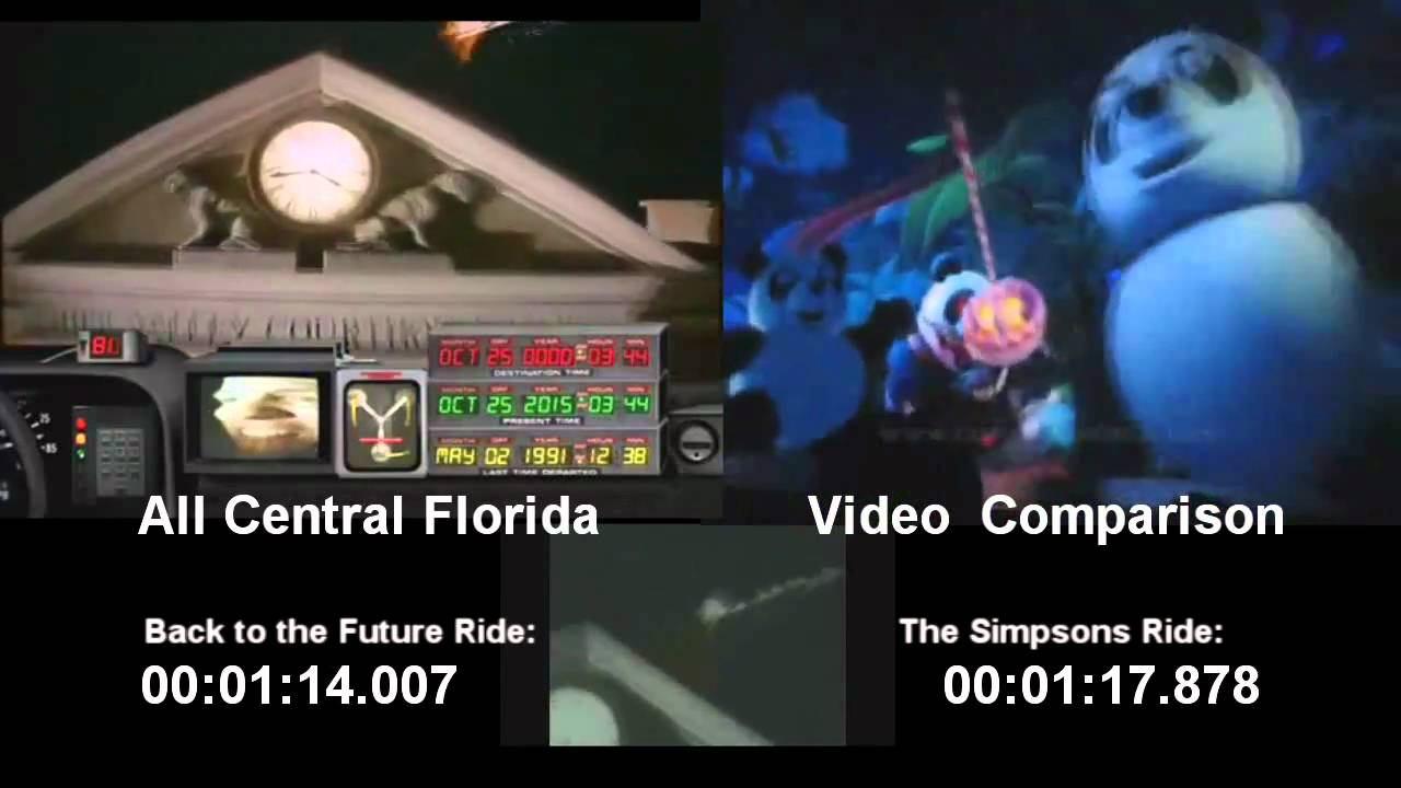 Back to the Future The Ride and The Simpsons Ride Comparsion