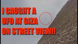 UFO Caught Flying Past Egypt's Great Pyramid On Google Street View!!!!