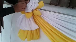 การผูกดอกขั้นพื้นฐาน (Elegant cloth decoration)