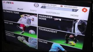 FIFA 14 Menu