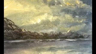 Ocean Dawn. Acrylic Landscape Painting - Mountains!