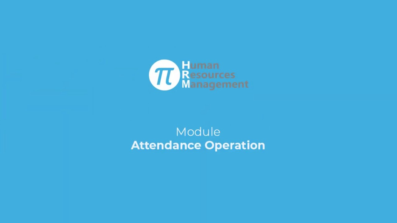 Attendance Operation | Pi-HR | Vivasoft Limited