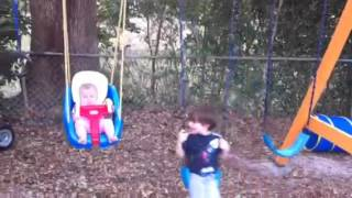Grayson Danger Tasha Luna Swinging Kids Little Tikes Baby Swing
