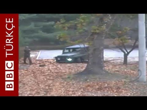 Kuzey Koreli askerin Güney Kore'ye kaçış anı