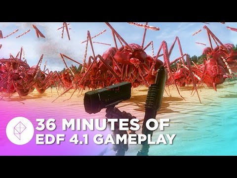 36 Minutes of Earth Defense Force 4.1 Gameplay (PS4, 60fps)
