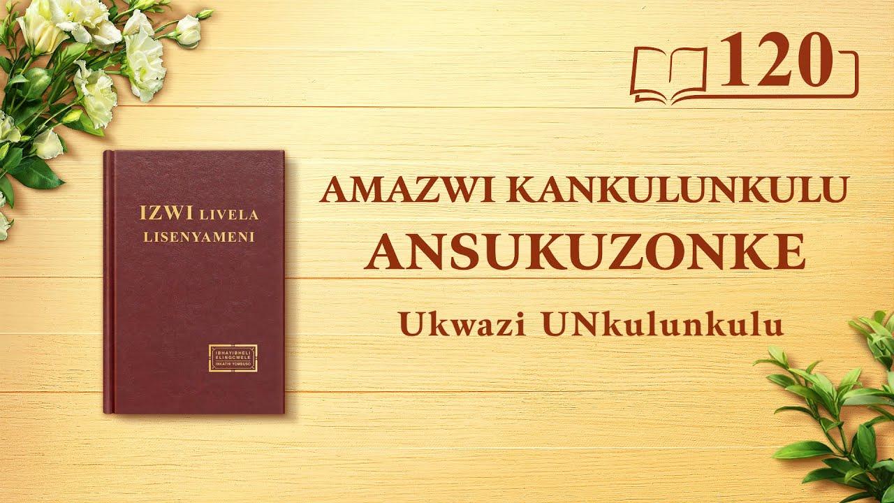 Amazwi KaNkulunkulu Ansukuzonke | UNkulunkulu Uqobo Lwakhe, Oyingqayizivele III | Okucashuniwe 120