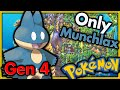 Can I Beat Pokemon Platinum With Only Munchlax? 🔴 Pokemon Challenges ► No Items In Battle