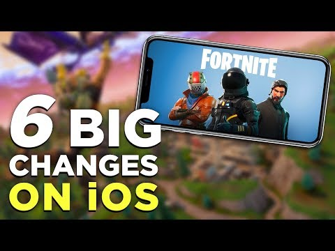 Fortnite Mobile Gameplay! 6 THINGS That Changed on iPhone vs. PC / PS4 / Xbox One