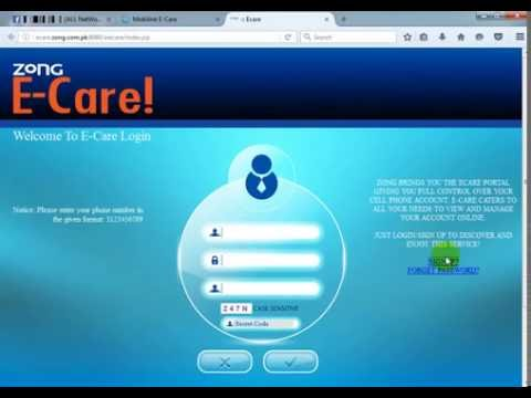 How To Make Ecare Account Online At Zong Part 2