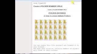 How to make Folder Bomb Virus trick