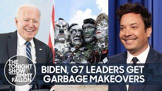 Байден, мировые лидеры G7 и Барби переделывают мусор | Вечернее шоу с Джимми Фэллоном в главной роли