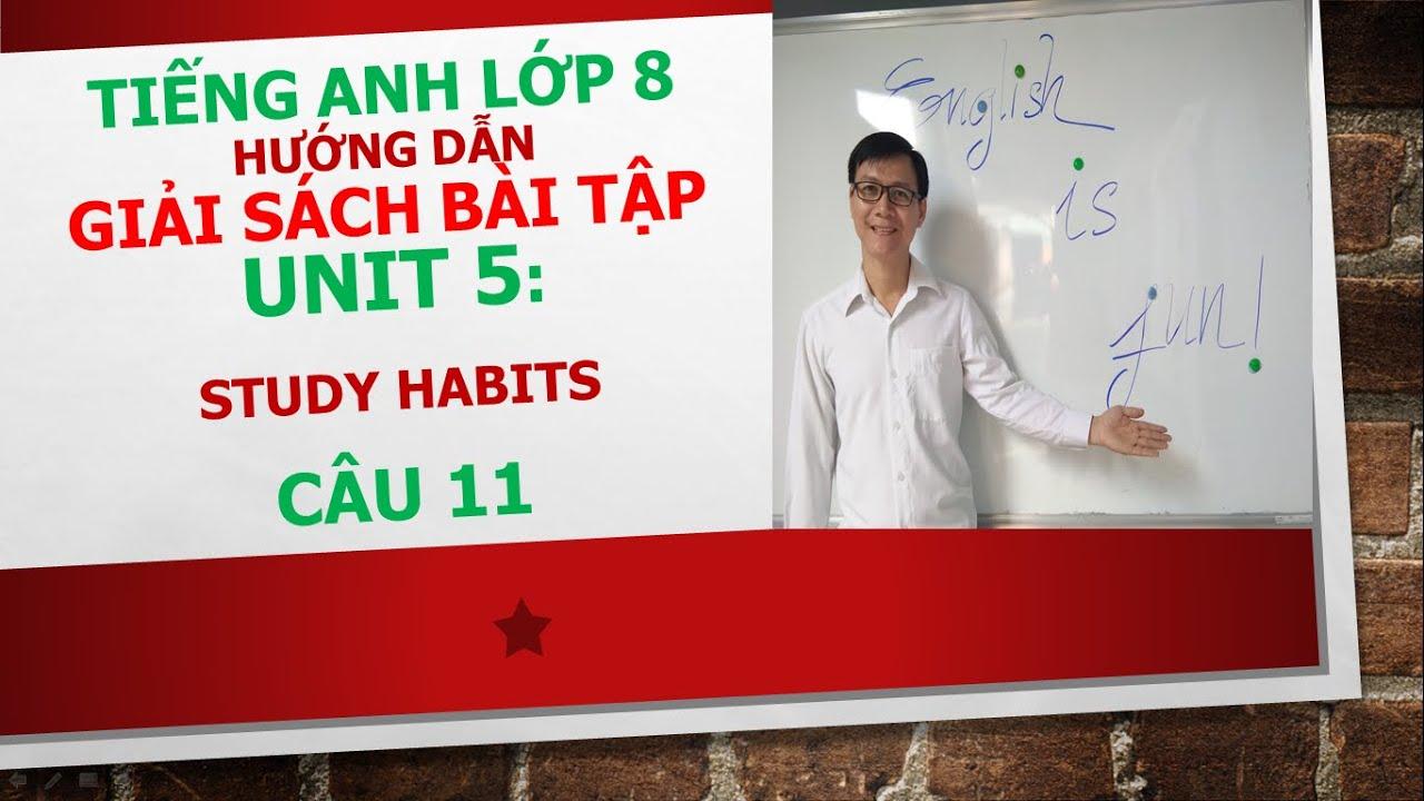 Tiếng Anh lớp 8 – Giải SBT – Unit 5: Study habits – Câu 11