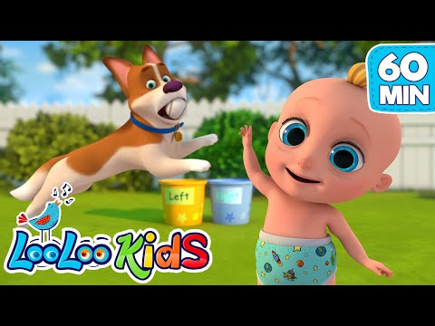 Rolling, Rolling | Learn Left And Right With Johny Johny | LooLoo KIDS Nursery Rhymes