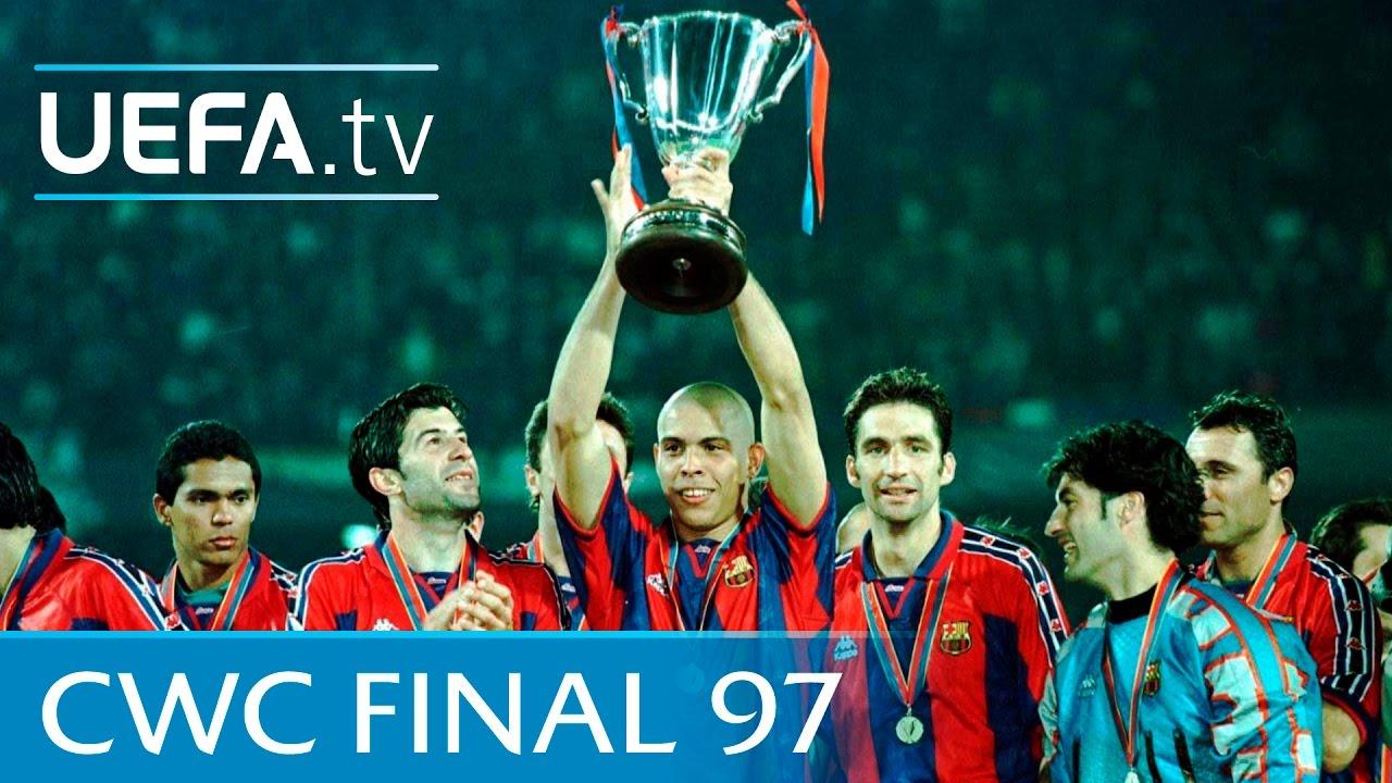 barcelona v paris saint germain 1997 uefa cup winners cup final highlights youtube barcelona v paris saint germain 1997 uefa cup winners cup final highlights