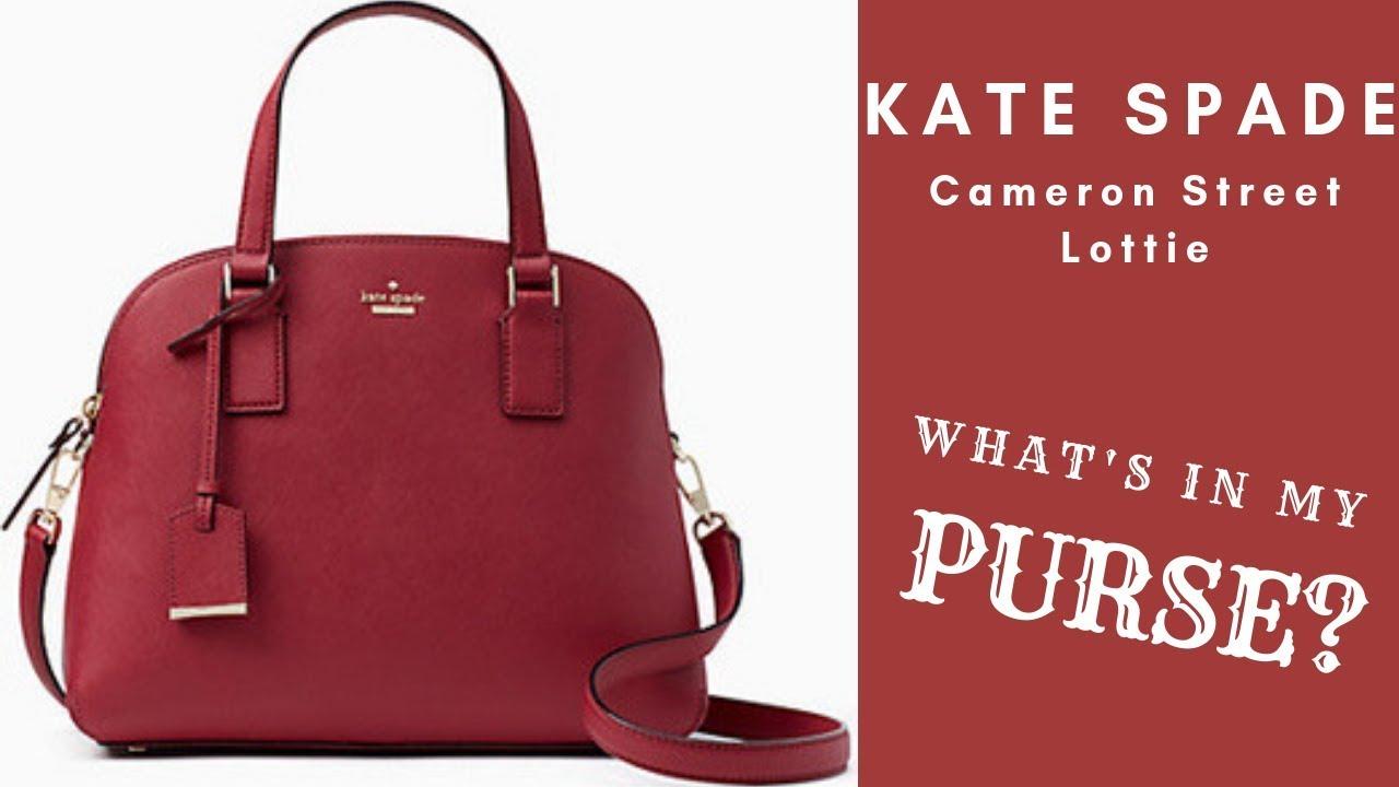 1625c0d123de7e CAMERON STREET LOTTIE KATE SPADE REVIEW | What's In My Purse Kate ...