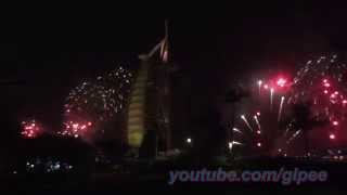Burj Al Arab 2015 New Years Day Fireworks