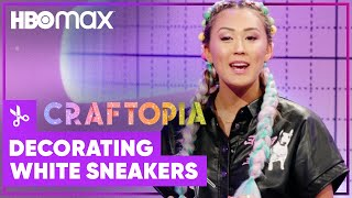 Craftopia  Tips for Decorating White Sneakers  HBO Max Family