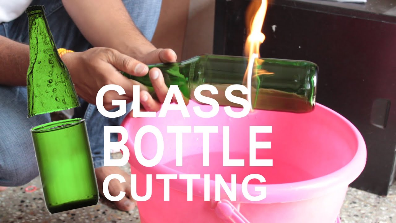 Recycle how to cut glass bottle with thread and fire for What can i do with glass bottles