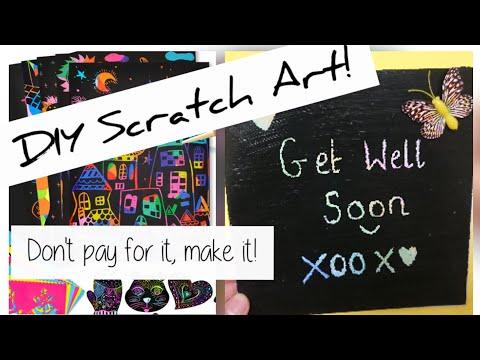 Paper Craft Hack! DIY Scratch Art Tutorial