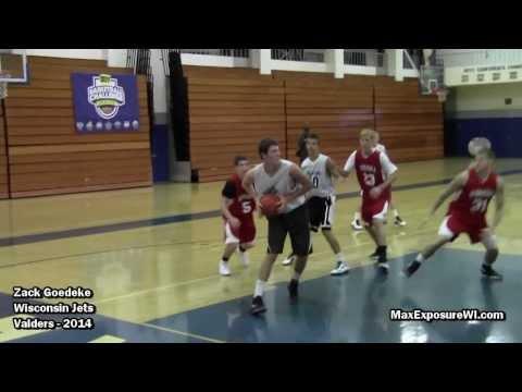 Zack Goedeke Wisconsin Jets Summer AAU Highlights | Valders High School Class of 2014 Forward/Center