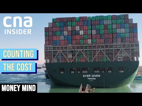 How The Suez Canal Jam Has A Ripple Effect On Your Goods   Money Mind   Counting The Cost