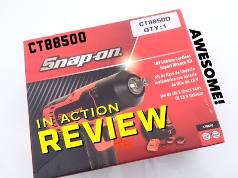 SnapOn CT8850 Impact Wrench Tool Review - 18V Brushless - AWESOME! - Bundys  Garage