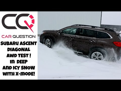 Subaru Ascent: AWD diagonal test in DEEP SNOW! I'ts X-MODE time!