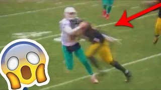 Dolphins' QB Matt Moore gets DESTROYED & HIT by Bud Dupree (Playoffs 2017)