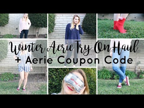 Winter Aerie Try On Haul And AERIE COUPON CODE | Megan Acuna