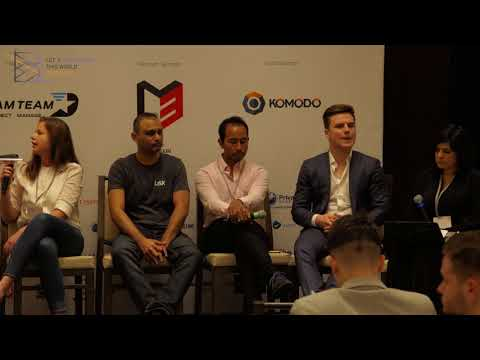 ICO Discussion panel at Blockchain Conference Abu Dhabi 2017