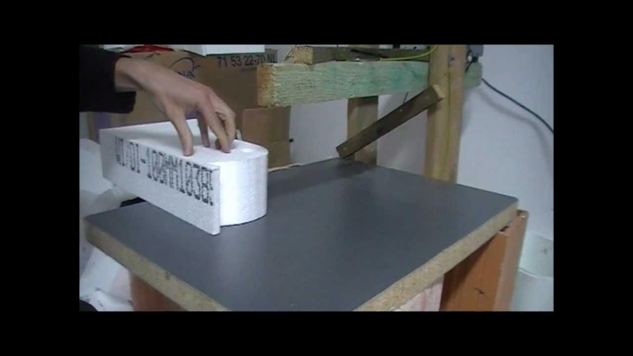 heissdraht styropor schneidemaschine youtube. Black Bedroom Furniture Sets. Home Design Ideas