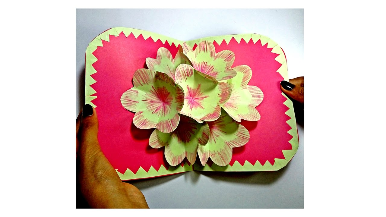 How to make 3d flower pop up card pop up birthday card diy pop how to make 3d flower pop up card pop up birthday card diy pop up greeting card craftastic m4hsunfo