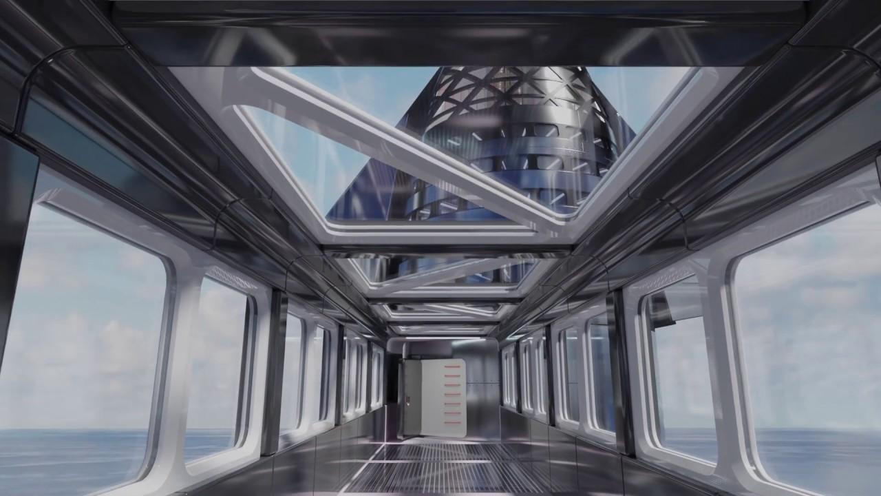 Walkway to SpaceX Starship animation