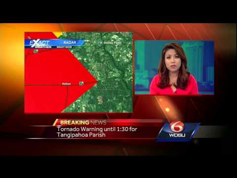 Severe Weather: Southeast Louisiana, southern Mississippi under Tornado Watch