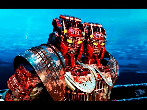 Real Steel WRB The Two Headed Tower Of Power - Twin Cities VS WRB II & III NEW ROBOT (Живая Сталь)