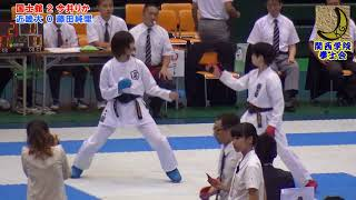 空手道 Karate 2018 今井りか(国士舘大学)vs藤田純里(近畿大学) 第62...