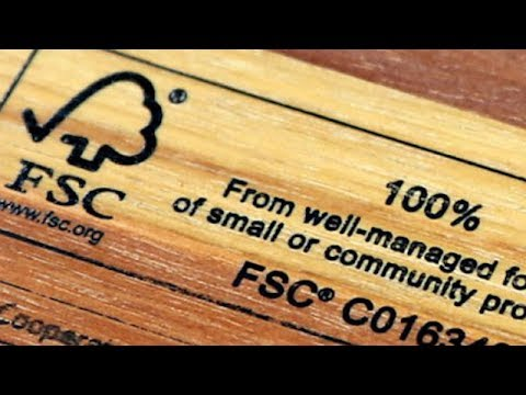 The forest stewardship council (fsc) logo is stamped on wood that complies with. Certified Wood And Paper Youtube