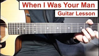 Baixar Bruno Mars - When I Was Your Man | Guitar Lesson (Tutorial) How to play Chords + Melody