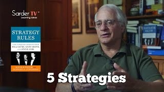 Can you provide an overview of the five strategies from Strategy Rules? by Michael Cusumano