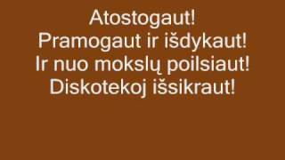 Eugenijus Ostapenko - Atostogaut. Lyrics, Zodziai thumbnail