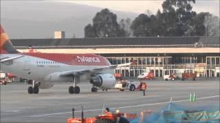 Avianca Airbus A320-214 N763AV early morning departure Bogota 13L