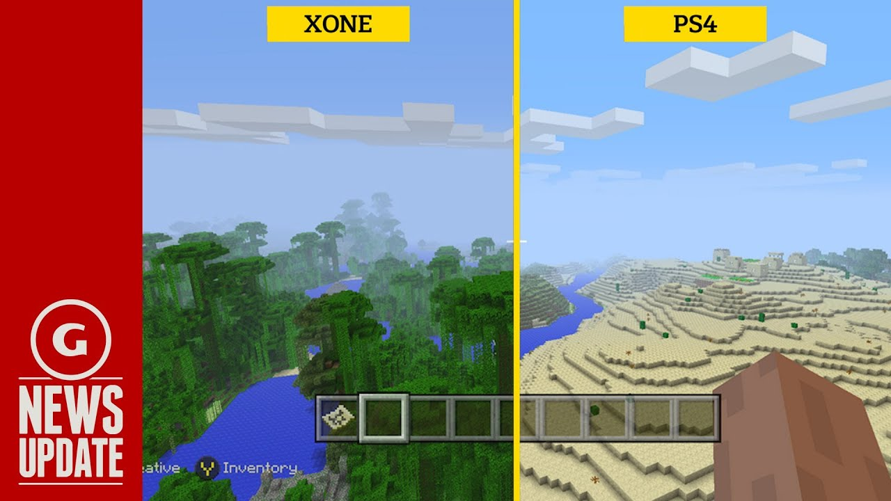 Minecraft screenshots show improvements in xbox one ps4 versions gs