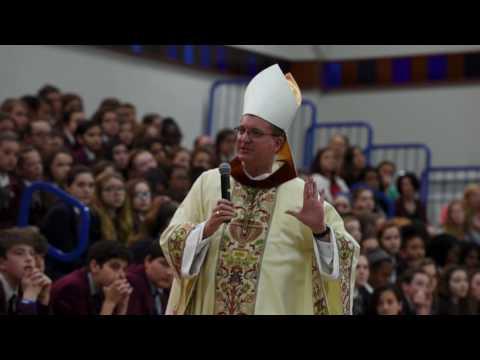 Bishop Barres First Visit to Kellenberg Memorial High School