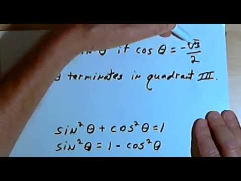Solving Trig Problems with Pythagorean Identities 143-8.5.1.b - YouTube
