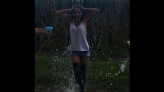 Miss Iowa United States Jessica VerSteeg takes the ALS ice bucket challenge