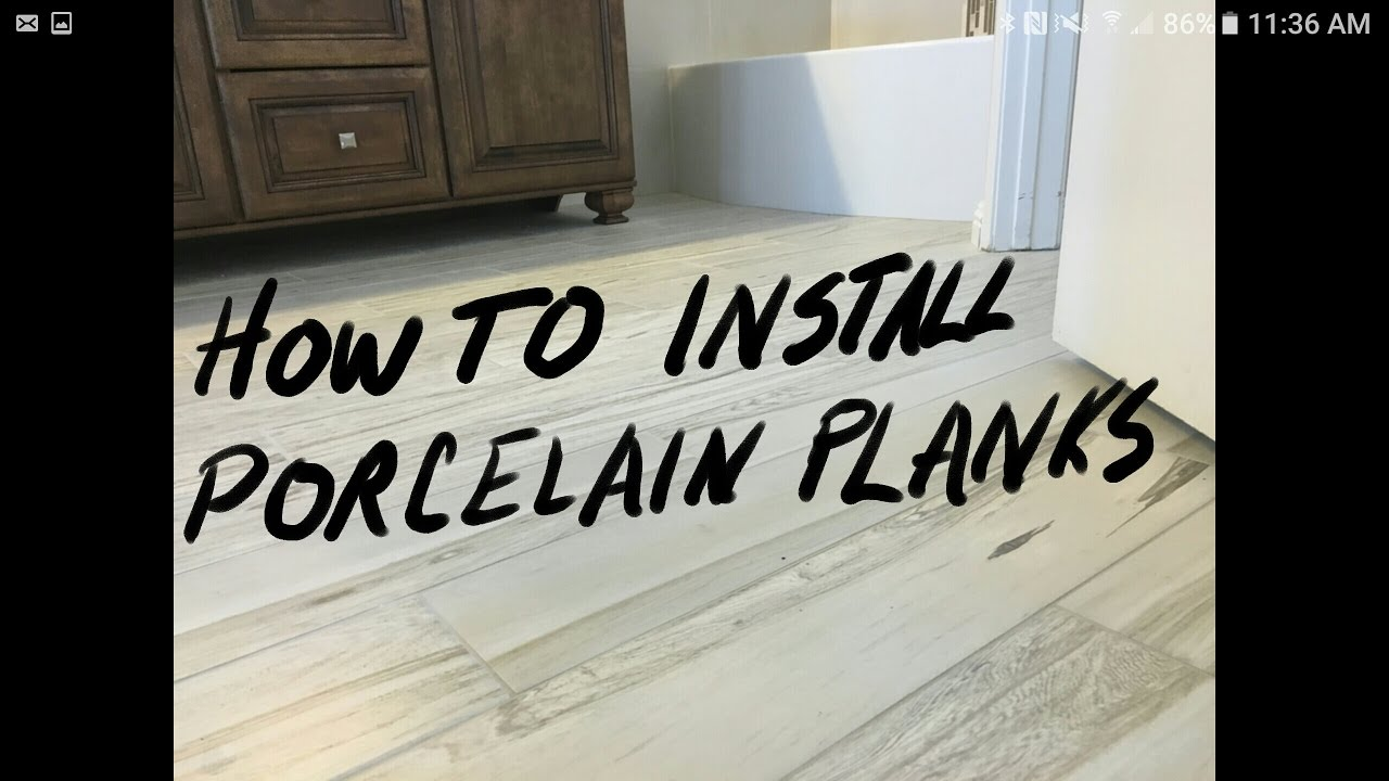 Install wood look porcelain tile with qep leveling system youtube dailygadgetfo Images