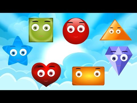 Shapes Song | Nursery Rhymes | The Shapes Song | Shape song