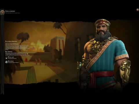 civ 6 Sumerian (Gilgamesh) Theme music -Ancient era